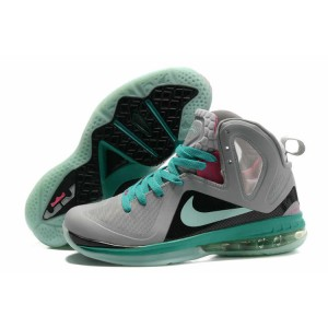 lebron 9 ps south beach gris noir vert