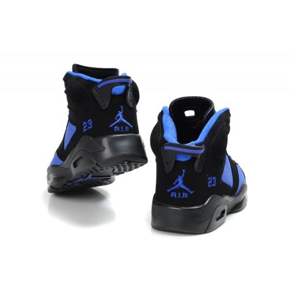 prix compétitif af6f8 17e1a basket jordan enfant 6 noir et bleu