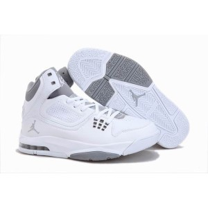 Chaussures jordan flight 23 blanc grise