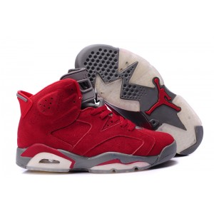 air jordan 6 retro raging bull rouge gris en nubuck