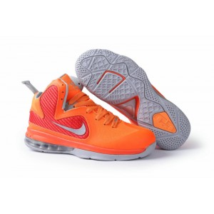 basket lebron james 9 orange gris femme