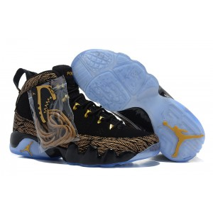 Air Jordan 9 Retro DB noir or
