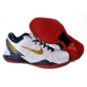 nike kobe 7 olympique blanc Médaille d'or rouge