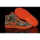 chaussure basket ball femme jordan 1 orange leopard