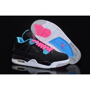 femmes air jordan 4 south beach gs noir bleu rose