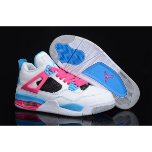 Jordan 4 gs South Beach femme blanc rose bleu