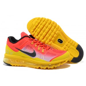 chaussures Nike Air Max 2013 jaune rouge