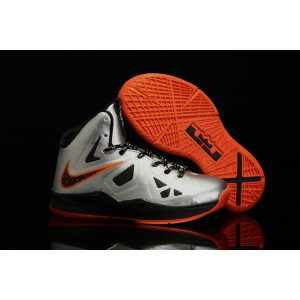 enfant nike James Lebron 10 argent orange