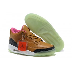 Jordan 3 Threezy glow dark tan gris anthracite