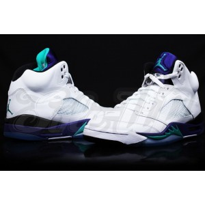 jordan retro 5 blanc Grape