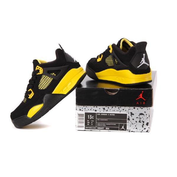 chaussure air jordan noir jaune