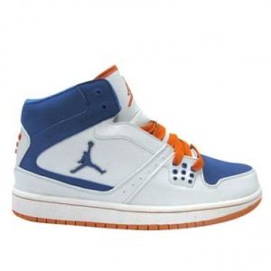 Jordan 1 flight femme blanc bleu orange
