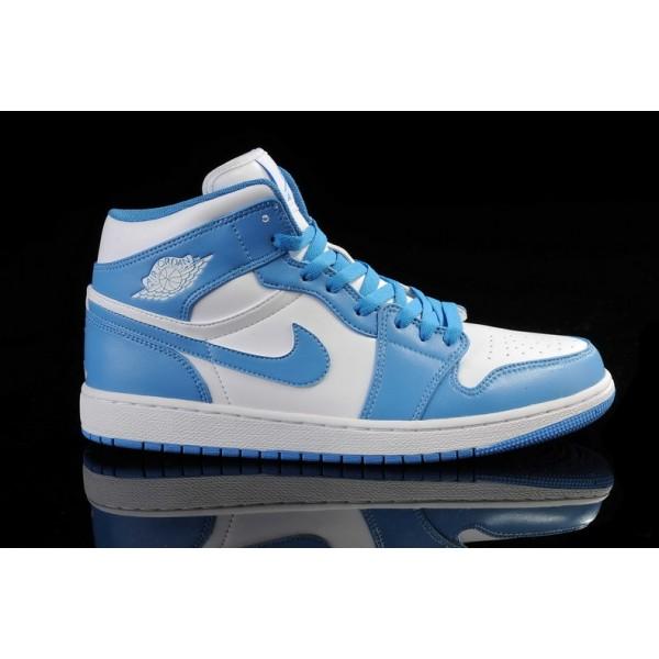 jordan bleu et blanc