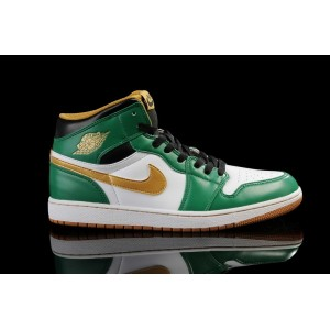 nike air jordan retro 1 Celtics blanc vert or