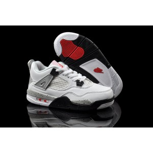 air jordan retro enfant 4 blanc gris ciment