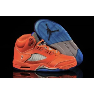Air Jordan V Melo orange bleu