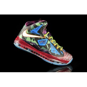 basket lebron james 10 femme multicolore