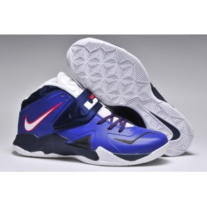 lebron zoom soldier 7 royal marine blanc
