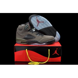 jordan 5 Retro olive sequoia rouge