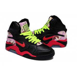 air force 180 high noir rose rouge
