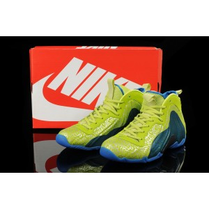 nike air flightposite volt/photo bleu/noir