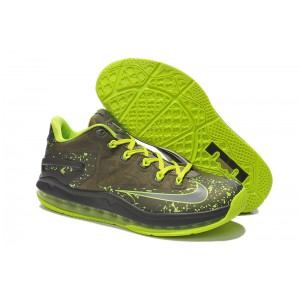 nike lebron 11 air max low Olive Volt