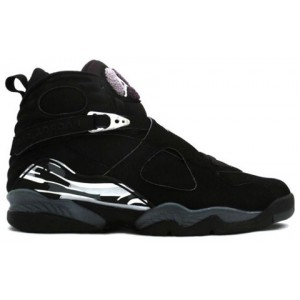 Nike Air Jordan 8 Retro Noir blanc Chrome En Daim
