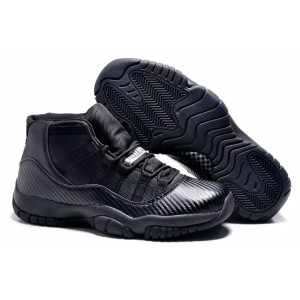 jordan air nike retro 11 noir carbon fiber