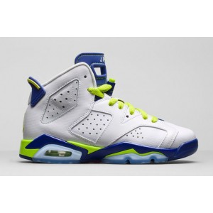 air jordan 6 femme en solde Blanc Royal Fierce vert