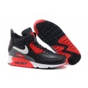 basket air max 90 sneakerboot noir blanc rouge