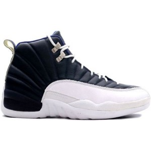 Chaussures Air Jordan 12 obsidian blanc French Bleu