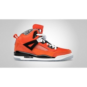 chaussure air jordan spizike orange noir