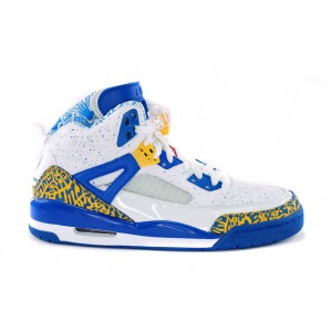 Air Jordan Spizike bleu blanc jaune Do the Right Thing