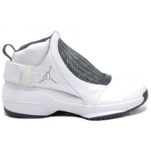Jordan 19 retro blanc Chrome Flint Gris