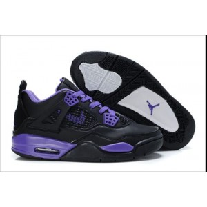 air jordan 4 retro fille noir violet