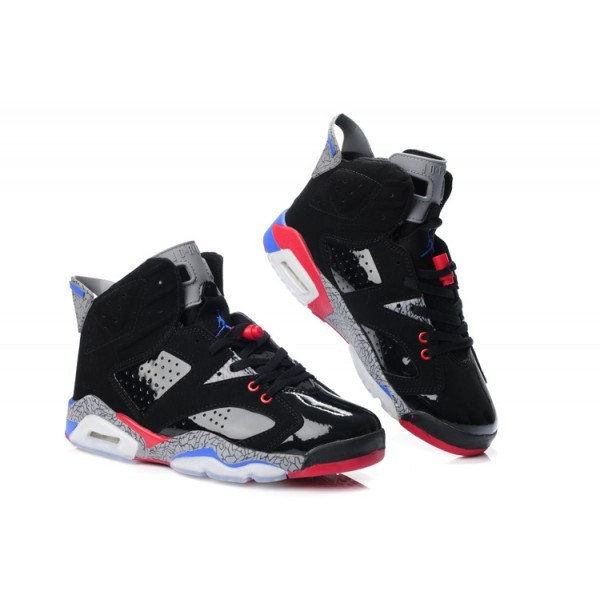 check out 2380f 6950a Charme Air Jordan 6 chaussures Glow In The Dark Pistons Noir Rouge ...,