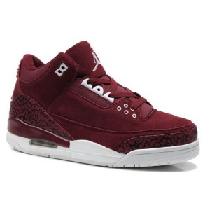 Air Jordan Retro 3 rouge blanc en daim