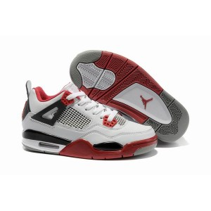Air Jordan retro 4 Mars Blackmon femme blanc noir rouge
