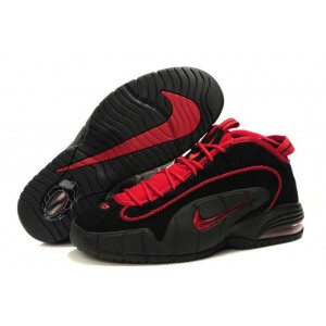 chaussure basket nike air penny 1 noir rouge
