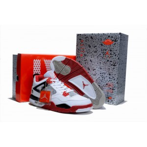 Air Jordan IV Retro Blanc rouge